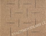 Kusový koberec FLOORLUX 60 x 110 cm černobéžový