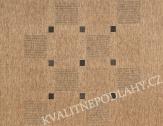 Kusový koberec FLOORLUX 60 x 110 cm černobéžový C/B 20079
