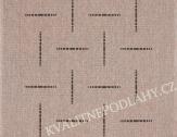 Kusový koberec FLOORLUX 60 x 110 cm šedočerný
