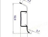 Soklová lišta Thermofix plastová délka 2,5m THX