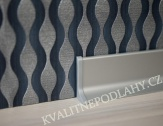 Hliníková podlahová lišta samolepící stříbro E01 Q63 cena za 1 bm