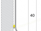 Hliníková podlahová lišta samolepící bronz E03 Q63 cena za 1 bm Q63-2703 2