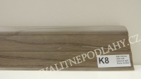 Plastová lišta PREXA 54 K8 dub tmavý